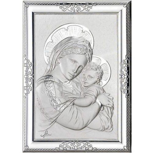 Srebrny obrazek matka boża z dzieciątkiem marki Produkt włoski