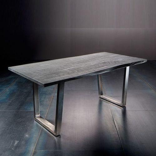 Fato luxmeble Stół catania obrzeża ciosane szary piaskowany, 160x90 cm grubość 2,5 cm