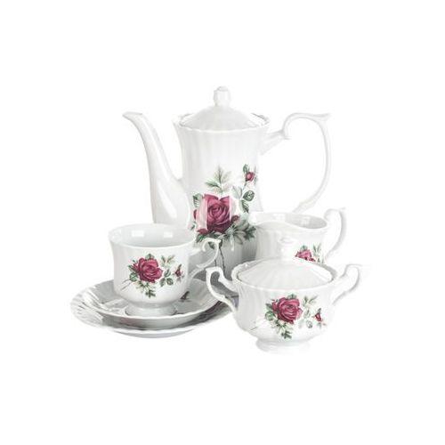 Chodzież iwona bordowa róża serwis kawowy 39/12 b826 marki Chodzież / iwona