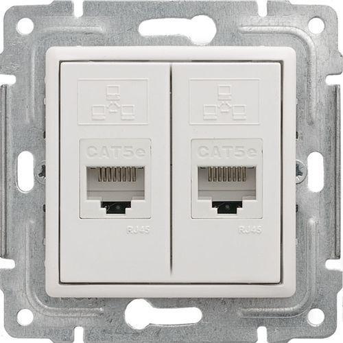 Kos vena gniazdo komputerowe podwójne 2xrj45, bez ramki, kat. 5e, nieekranowane biały 510467 (5907617109346)