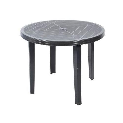Stół ogrodowy 90 cm OPAL plastikowy antracytowy