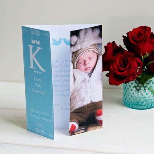 Z okazji chrztu chłopca - kartka składana z życzeniami - kartka z życzeniami marki Mygiftdna