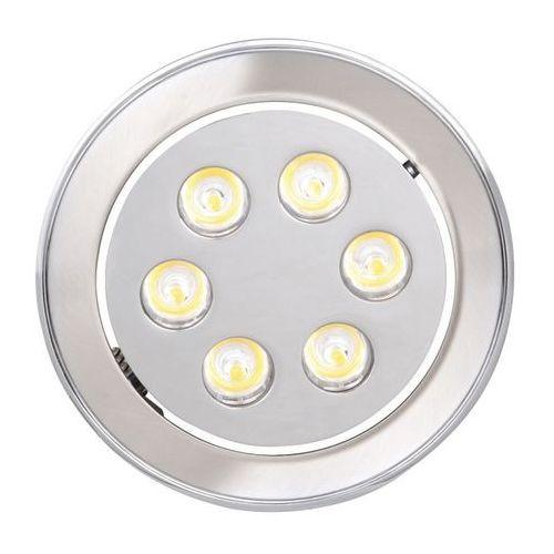 Oczko lampa sufitowa hl675l 01701 podtynkowa oprawa metalowa led 6w okrągły wpust satyna marki Ideus