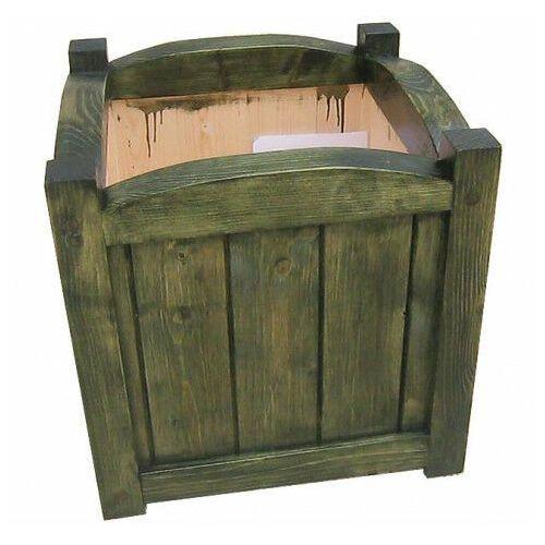 Drewniana kwadratowa donica ogrodowa 15 kolorów - mundo 3x marki Elior