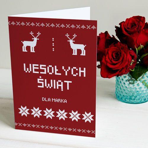 Świąteczny Sweter  kartka z życzeniami  Kartka z życzeniami