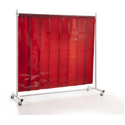 Quipo Ścianka ochronna dla spawacza premium, ruchoma,z zasłoną lamelową