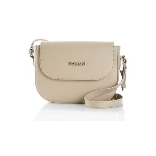 Skórzana torebka na ramię marki Metozzi