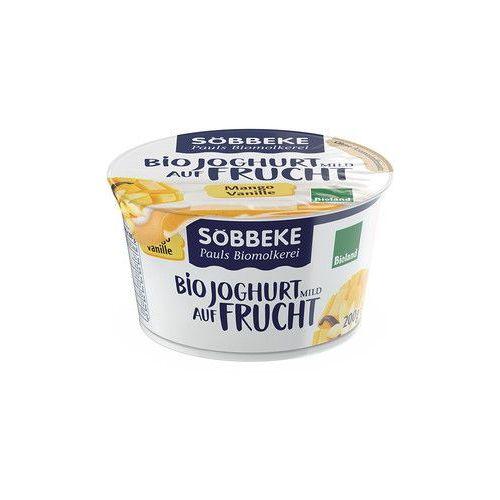 Jogurt z musem mango-wanilia 3,8% tłuszczu bio 200 g -  marki Sobbeke