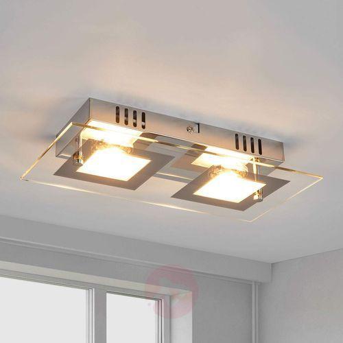 Manja – dwupunktowa, chromowa lampa sufitowa LED
