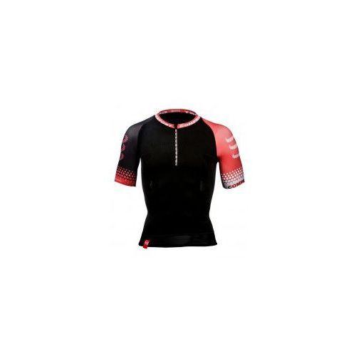 Koszulka biegowa - trail shirt black marki Compressport