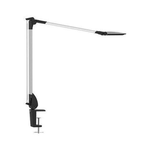 Lampka led na biurko optimus, 10w, ze ściemniaczem, mocowana zaciskiem, srebrna marki Maul