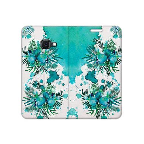 Samsung Galaxy Xcover 4S - etui na telefon Flex Book Fantastic - turkusowa orchidea
