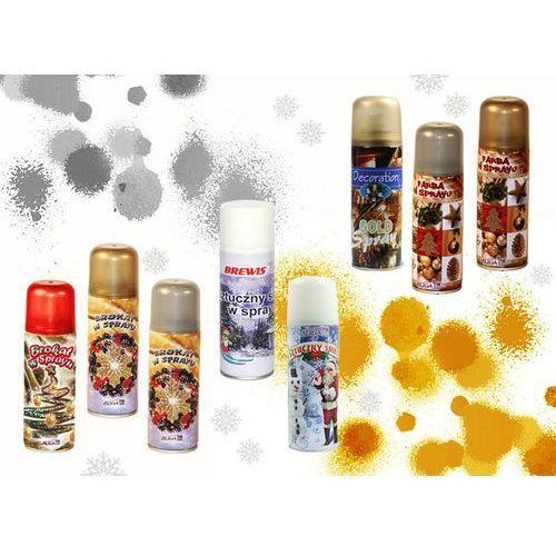 Farba w spray fx01 250ml złota/srebrna/biała/mix marki Brewis