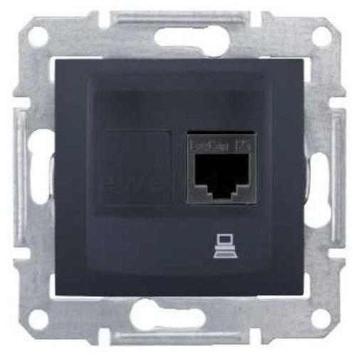 SEDNA Gniazdo komputerowe pojedyncze RJ45 kat. 5e UTP grafitowe SDN4300170 SCHNEIDER ELECTRIC (8690495035667)