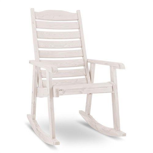 alabama fotel bujany fotel ogrodowy masywne drewno biały marki Blumfeldt