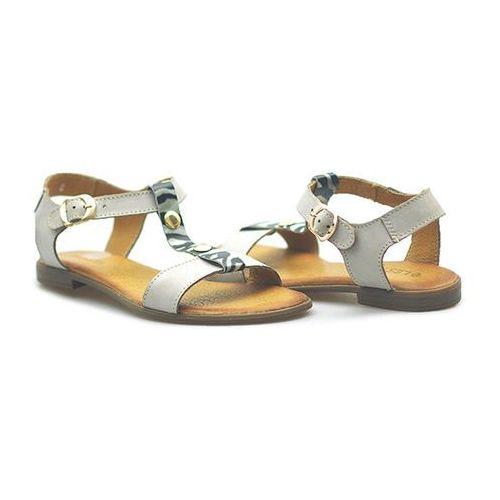 Sandały 161-1187-1-26a41789 beżowe/biały/czarny lico marki Lesta