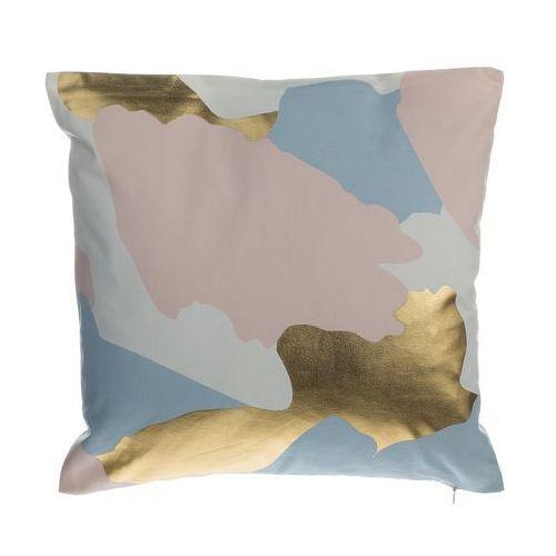 Beliani Poduszka dekoracyjna w łaty bawełniana różowa/złota 45 x 45 cm