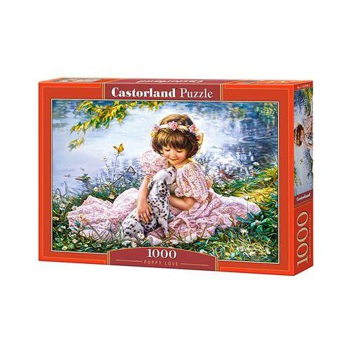 Puzzle land. 1000 elementów.(c-103249) dziewczynka z pieskiem + zakładka do książki gratis marki Castor