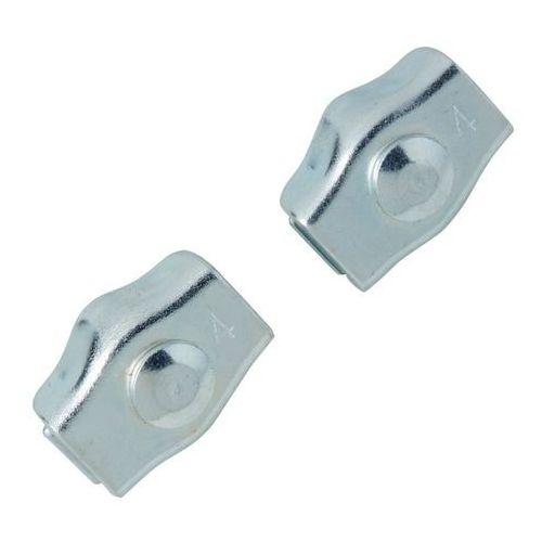 Zacisk linowy siodełkowy Diall pojedynczy 4 mm 2 szt. (3663602918929)