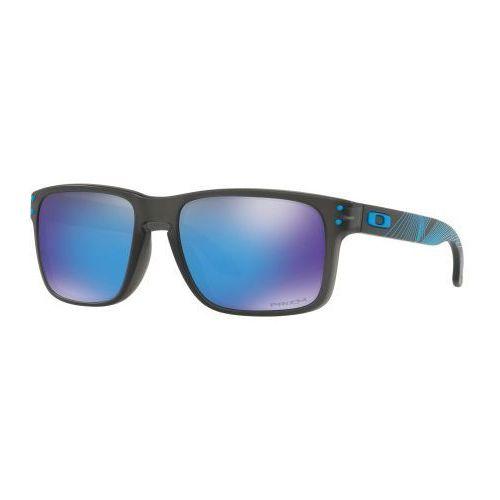 Okulary Oakley Holbrook Matte Grey Smoke Prizm Sapphire Iridium OO9102-F255, kolor szary
