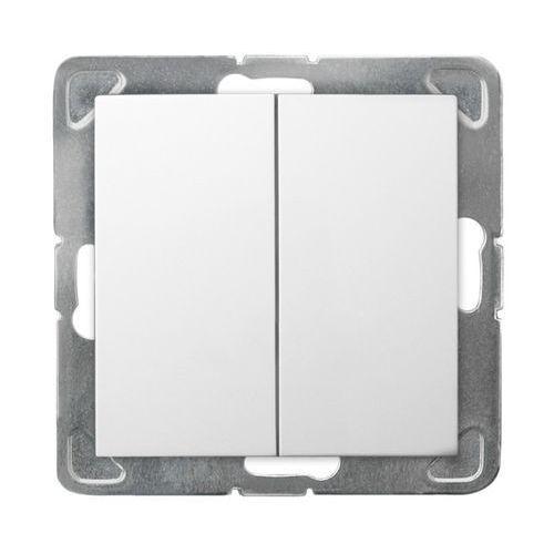 Łącznik podtynkowy Ospel Impresja ŁP-17Y/m/00 podwójny zwierny biały