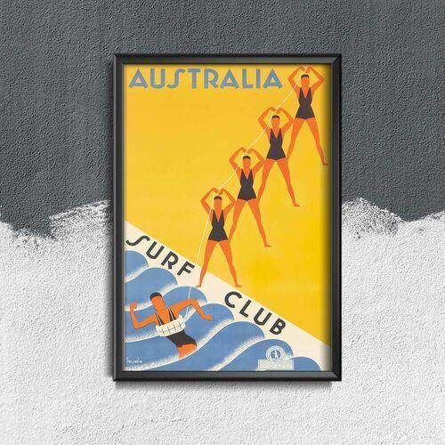 Plakat retro do salonu Plakat retro do salonu Australia Surf Club