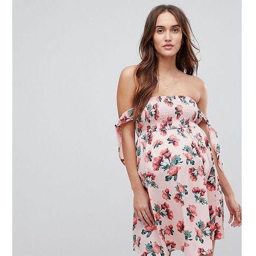 Asos design maternity exclusive rose shirred sundress - multi, Asos maternity