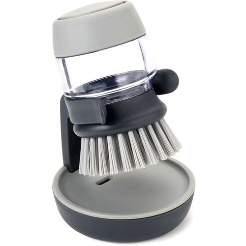 Szczotka do mycia naczyń z zasobnikiem Palm Scrub Joseph Joseph szara (85005), 85005