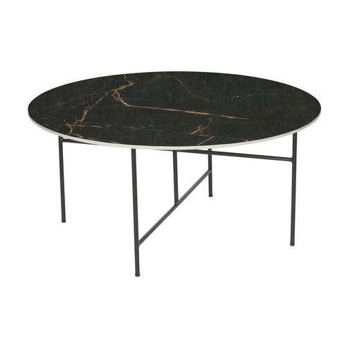 Woood stolik vida z marmurowym blatem czarny 40xØ80 373797-z