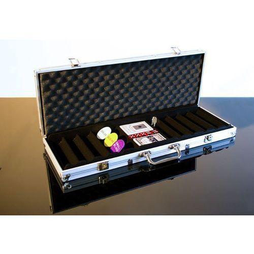 Walizka aluminiowa na 500 żetonów do pokera z akcesoriami marki Garthen