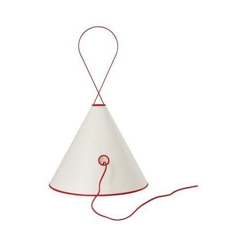 Forestier Tipee-lampa stojąca/lampa wisząca metal & tkanina biały wys.72,5cm