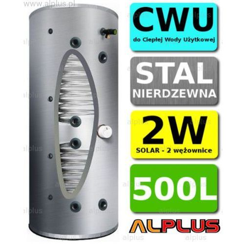 Bojler cyclone 500l 2-wężownice 2w nierdzewka wymiennik podgrzewacz cwu wysyłka gratis marki Joule