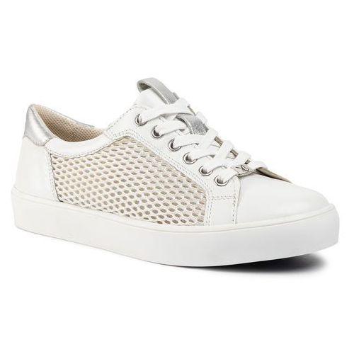 Sneakersy CAPRICE - 9-23652-24 White/Silver 191, kolor biały
