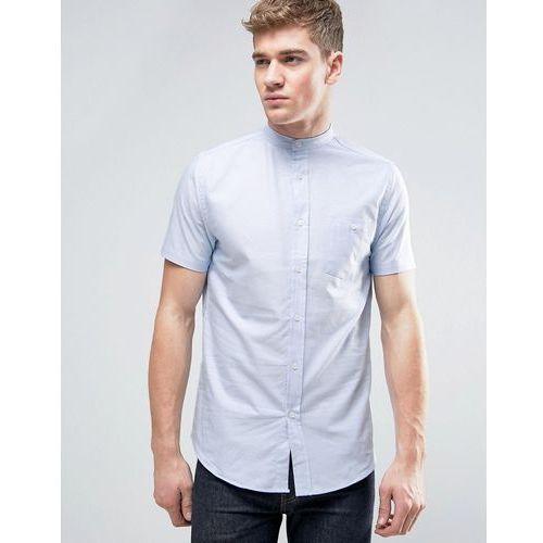 oxford grandad short sleeve shirt with pocket - blue marki Brave soul