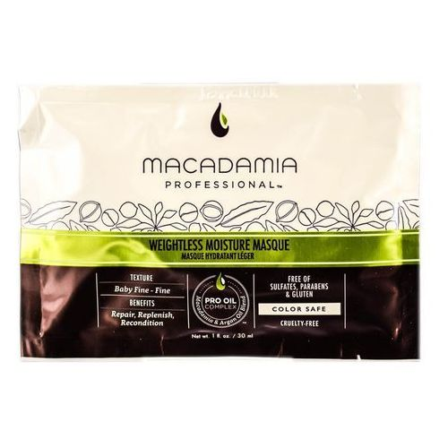Macadamia  weightless moisture mask | nawilżająca maska do włosów cienkich - 30ml