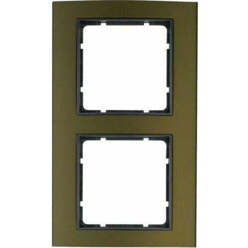 Berker b.3 ramka 2-krotna, alu, brązowy/antracyt 10123001 (4011334371595)