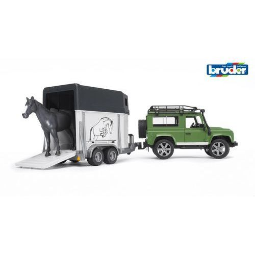 BRUDER Land Rover z przyczepą oraz koniem, BR02592
