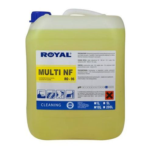 ro-96 multi nf 5l niskopieniący preparat do usuwania tłustych zanieczyszczeń marki Royal