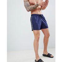 Bjorn Borg Swim Shorts with Taped Logo - Navy, kolor szary