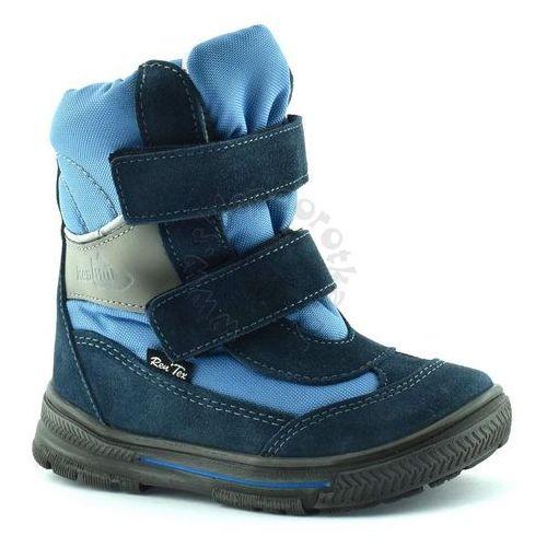 Śniegowce dla dzieci z membraną renbut 22-3216 - niebieski ||granatowy marki Ren but