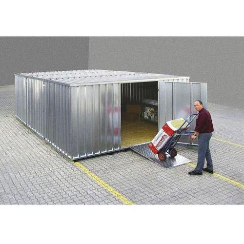 Bos Zestaw kontenerów na materiały, ocynk., z podłogą z drewna, 2 moduły, szer. zewn