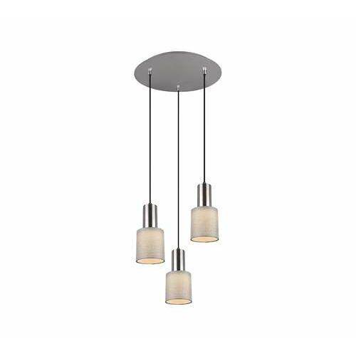 Trio wailer 303690307 lampa wisząca zwis 3x5w gu10 niklowa/szara