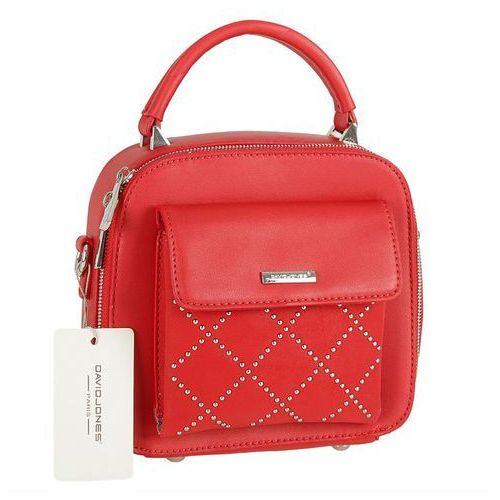 Delikatny kuferek czerwony - czerwony marki David jones