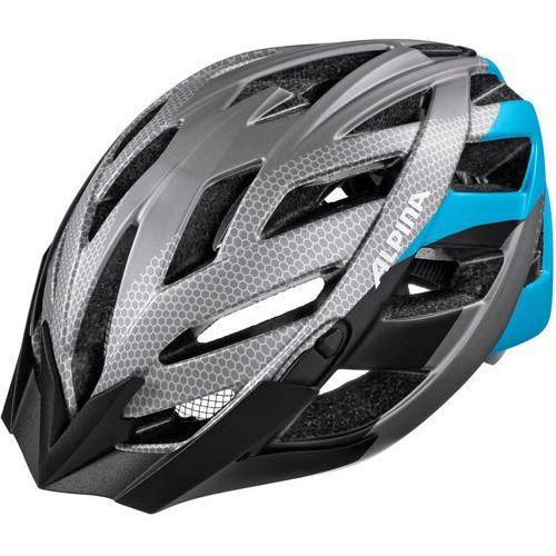 Alpina panoma l.e. kask rowerowy szary/niebieski 52-57cm 2018 kaski rowerowe