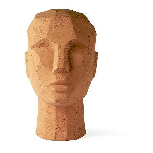 Hkliving abstrakcyjna rzeźba głowy z terakoty aoa9985