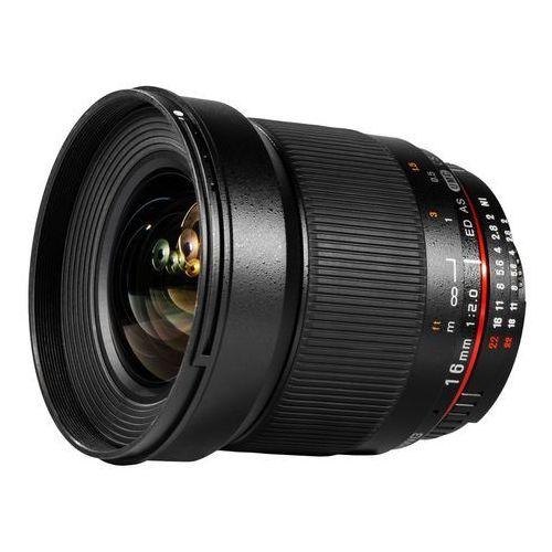 Karta kurier gratis SAMYANG 16 mm F2.0 obiektyw mocowanie Sony E