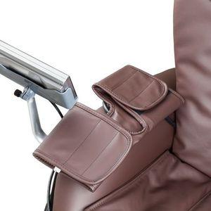 Insportline Fotel do masażu sallieri czarny - kolor ciemny brązowy