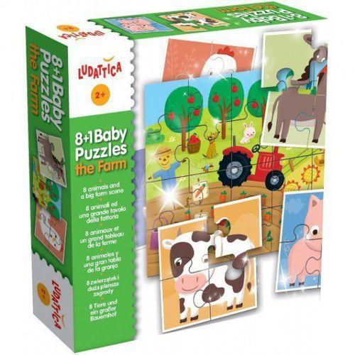 Liscianigiochi Ludattica puzzle 8+1 baby puzzle farma