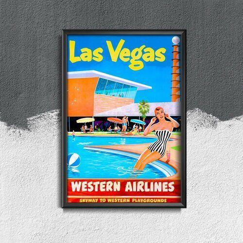 Vintageposteria.pl Plakat retro do salonu plakat retro do salonu las vegas western airlines