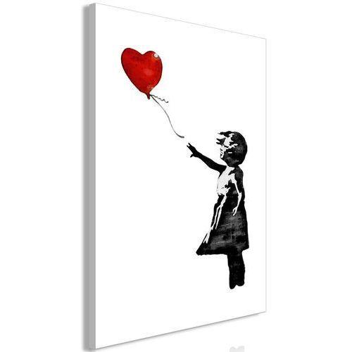 Obraz - Banksy: Dziewczynka z balonem (1-częściowy) pionowy